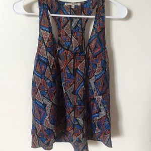 COLLECTIVE CONCEPTS Racerback Print Top